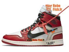 Officiel Off-White x Air Jordan 1 Rouge/Blanc AA3834_101 Chaussure Sportswear Prix