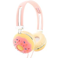 Sprinkle Donut Headphones ($30) ❤ liked on Polyvore featuring accessories and tech accessories