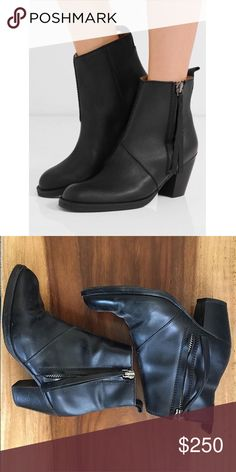 Acne Pistol Boots Acne Boots; in great condition, light scuffs but hardly noticeable. In very clean condition. Purchased used however, was never able to wear them myself. Unfortunately they're a little too big on me. Hoping to resell. Acne Shoes Ankle Boots & Booties