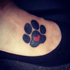 My new paw print tattoo