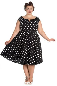 online shopping for Hell Bunny Plus Retro Mod Black White Polka Dot Flare Party Dress from top store. See new offer for Hell Bunny Plus Retro Mod Black White Polka Dot Flare Party Dress 50s Dresses, Plus Size Dresses, Plus Size Outfits, Vintage Dresses, Dressy Dresses, Pageant Dresses, Dresses Online, Cute Dresses For Party, Party Dress