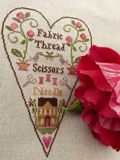 ♥ Szépségpillanatok ♥: LHN - A Stitcher's Heart    Nina's Threads: Ginger, Raspberry, Hunter