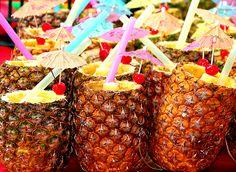 hawaiian drinks. yum!
