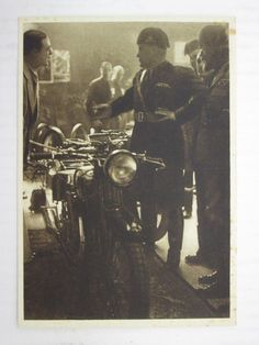 "Benito Mussolini at ""Gilera"" Stand Italian Army, World War Ii, Italy, History, Inner Circle, Pictures, Vintage, Building, Berlin"