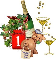happy new year - Page 3 Happy New Year Animation, Happy New Year Message, Happy New Year Wishes, Happy Friendship Day, Year Quotes, Champagne Bottles, Family Affair, Nouvel An, Vintage Cards