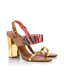 0e731db51 These mixed media heels are perfection - Tory Burch - Tanner High Heel  Sandal Jordan Shoes