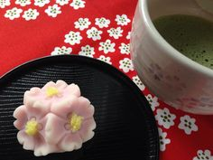 "Japanese sweet ""Cherry blossoms"" 上生菓子「桜」"