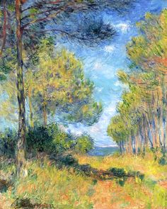 1882 Claude Monet Path at Varengeville