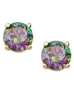 10k Gold Earrings, Mystic Topaz Round Stud Earrings (1-1/8 ct. t.w.)