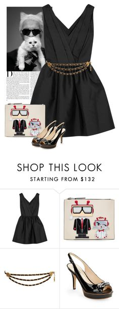 """Karl Lagerfeld Robot Karl and Choupette Pouch"" by bodangela ❤ liked on Polyvore featuring Karl Lagerfeld"