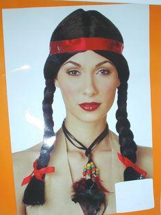 New Native American Indian Princess Halloween Wig Pocahontas Womens #CaliforniaCostume