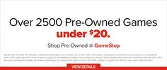 GAME OF THE WEEK Shop Over 2,500 Pre-Owned Games under $20 at GameStop.com Check out these Pre-owned games such as these! Grand Theft Auto V for $19.99 Battlefield 4 for $12.99 Destiny for only $9.99 TO BUY CLICK ON LINK BELOW http://tomatovisiontv.wix.com/tomatovision2#!video-games/c1zzn