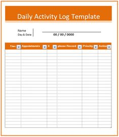 Call Log Template  Logtemplates    Template And Logs