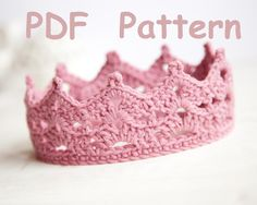 Crochet Baby Crown ... by SashaPatterns | Crocheting Pattern - Looking for your next project? You're going to love Crochet Baby Crown Tiara Pattern by designer SashaPatterns. - via @Craftsy