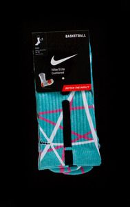 Image of South Beach Lines - Custom Nike Elite Socks - Inspired by Nike LeBron 10 shoes