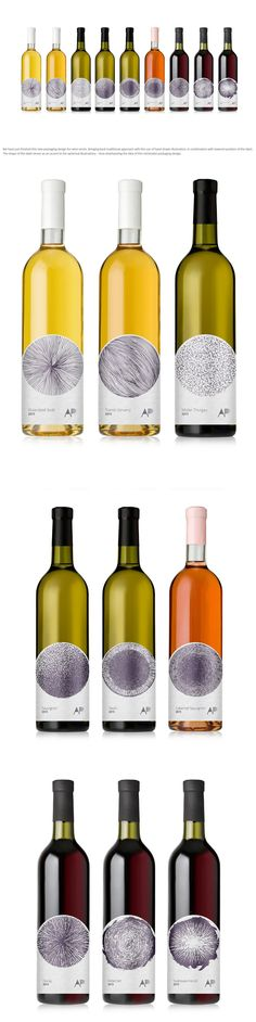 Aperun Wines Hand Drawn Packaging Design