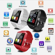 Bluetooth Smartwatch U8 U Smart Watch for iPhone 6 / 6 Plus / 5S Samsung S6 / Note 4 HTC Android Phone Smartphones Android Wear