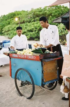 Bali Wedding: For authentic touches that incorporated local culture at a wedding… Food Truck Wedding, Wedding Games, Wedding Reception Decorations, Wedding Snacks, Wedding Decor, Wedding Stuff, Indian Beach Wedding, Bali Wedding, Destination Wedding