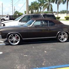 video - Brown 71 chevelle convertible. billet wheels 22 inch