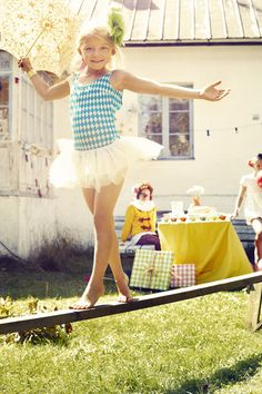 Carnival balancing game. My little gymnasts would love this at their birthday party.
