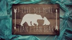 LOVE You More Than I Can Bear by RomansRdDecor on Etsy