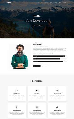 Personal Website Design, Simple Website Design, Website Design Layout, Website Design Inspiration, Portfolio Website Design, Web Developer Portfolio Website, Best Portfolio Websites, Website Layout Template, Maquette Site Web