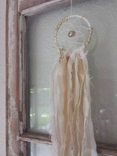 Dreamcatcher  Dream Catcher Small  White Tan by BohoDreamCapture, $11.00