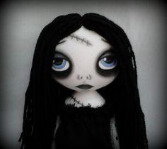 Gothic Art Rag Doll  Lenore by ChamberOfDolls on Etsy