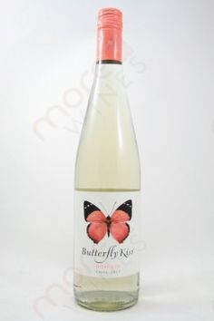 Butterfly Kiss Moscato 750ml.   In this delightfully floral Moscato, you'll taste a kiss of sweet apricot, papaya and orange zest flavors.
