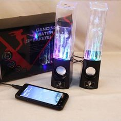 LED Dancing Water Music Fountain Light Speakers for Laptop iPhone iPad4 iPod www.eshop2018.com