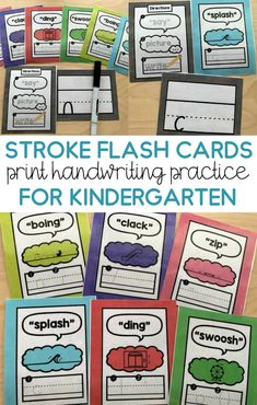 These letter stroke flash cards make teaching are a great kinesthetic handwriting activity that young students love. These cards help preschool & kindergarten students practice their letter strokes by making it fun and engaging. This handwriting activity will have Students shouting, moving, imaging and writing! Great for introducing handwriting with preschool and kindergarten students or reviewing for first grade! Print Handwriting, Handwriting Practice, Preschool Writing, Preschool Kindergarten, Teaching Strategies, Teaching Resources, Teaching Kids, Primary Teaching, Letter Flashcards