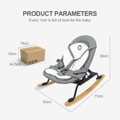 Automatic baby swing bouncer baby sleep cradle bed shaking chair bed #babyrocker #babyswingchair #babybouncer