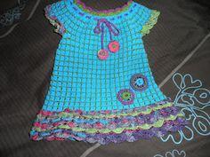 Los Hilos de mi Pecera: Un vestido a crochet para mi nieta