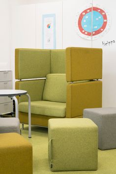 Ritaharju School, Oulu Sofa, Couch, School, Inspiration, Furniture, Design, Home Decor, Biblical Inspiration, Settee