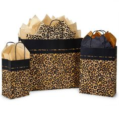 Leopard Print Gift Bags for stores & boutiques. Nashville Wraps has the largest selection Gift Bags for retail packaging at wholesale bulk prices! Cheetah Print, Leopard Prints, Leopard Print Party, Leopard Animal, Print Packaging, Christmas Animals, Black Paper, My Favorite Color, Gift Bags