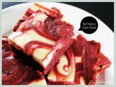 Christmas Eve Party! Red Velvet Cream Cheese Brownies