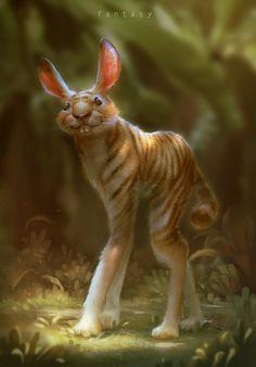 Tiger Rabbit, 國峰 藍 on ArtStation at https://www.artstation.com/artwork/z4vlL