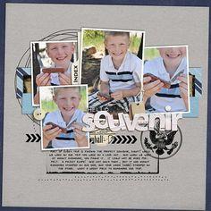 Digital: hello souvenir - #scrapbook #layout
