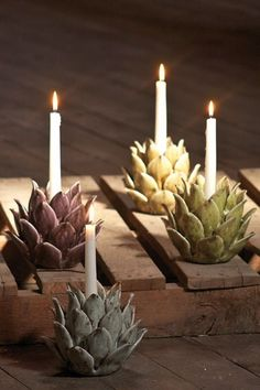 Tabletop candle decor