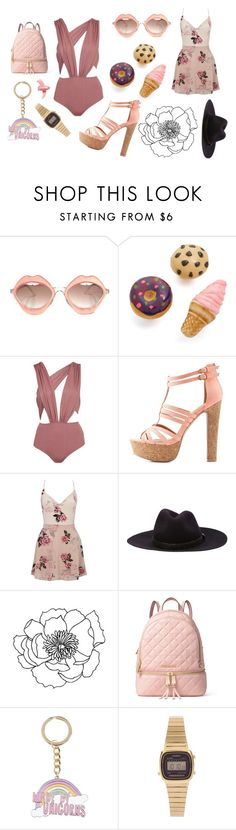 """Unbenannt #994"" by katlatsch ❤ liked on Polyvore featuring RETROSPECS, Venessa Arizaga, Charlotte Russe, Lipsy, rag & bone, MICHAEL Michael Kors, New Look, Casio and Elizabeth Arden"
