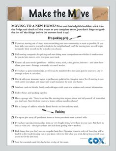 Free moving checklist printable this change of address template make moving easier moving checklist printablepacking checklistchecklist templatepacking cheaphphosting