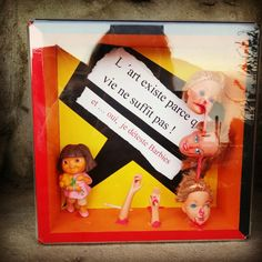 Dolls #barbie#dora#artbox#art Cleide Saito artiste suisse clesaito.ch