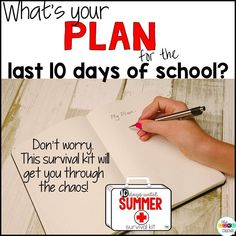 Try these 10 full day, end of year lesson plans and review activities to count down the last days of school until summer.