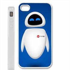 Blue EVE robot Disney Wall-e iPhone 4 / 4S, iPhone 5 case, Samsung S2 / S3 Case - Black / White