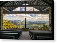 Pretty Place Chapel - Mountain Chapel overlooking the mountains of Upstate South Carolina near Greenville. This open air mountain chapel has stunning views of the Blue Ridge Mountains at any time of the year. Pretty Place Chapel, To Infinity And Beyond, Blue Ridge Mountains, Chapelle, Thing 1, Kirchen, Cool Places To Visit, South Carolina, Landscape Photography