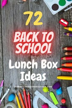 "With this Ultimate List of 72 Back To School Lunch Box Ideas, you will never have to worry about running out of ideas for your child (or you) again. This will also cut down on the same ole ""dull"" lunch day after day. Even your picky eaters will undoubtedly be able to find something on this list they would like for lunch…maybe. 🙂 #lunchbox #lunchboxideas #school #schoollunch #backtoschool"