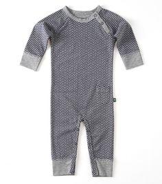 Babypakje blauw zigzag Little Label