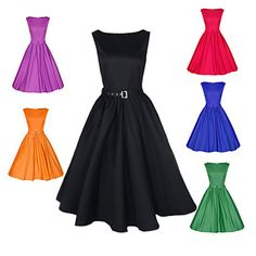 Tracy Women's Party Round Sleeveless Dresses (Cotton/Polyester) - USD $ 16.99