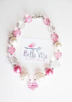 Diamond Jewelry for Little Girls | .com: Chunky Beads Necklace For Little Girls & Toddlers - Diamond ...