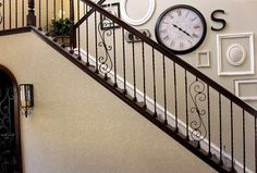 Traditional Home Iron Staircase Design, Pictures, Remodel, Decor and Ideas - page 10